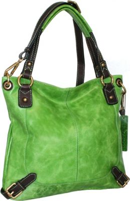 Image of Nino Bossi Torino Satchel Apple Green - Nino Bossi Leather Handbags
