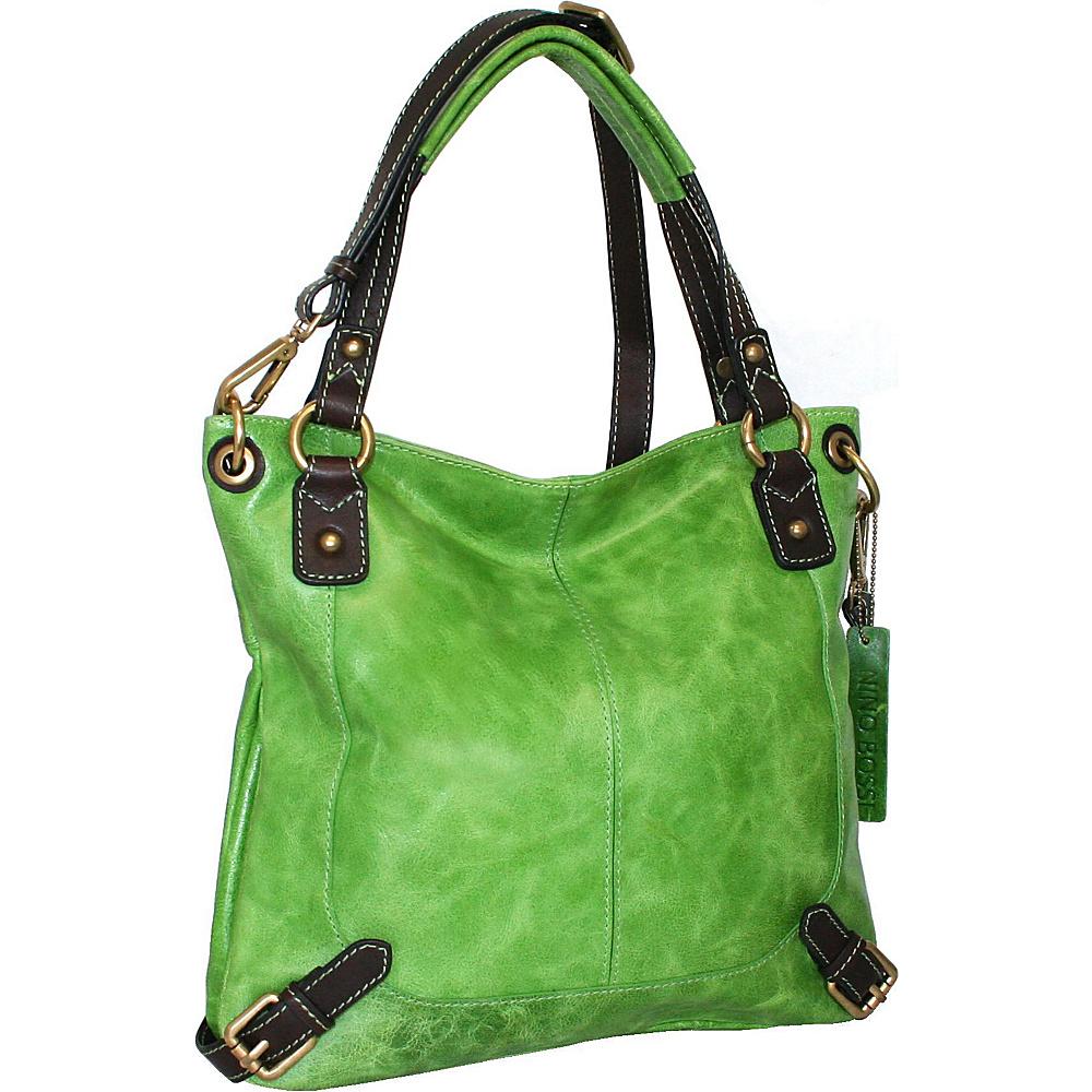 Nino Bossi Torino Satchel Apple Green - Nino Bossi Leather Handbags