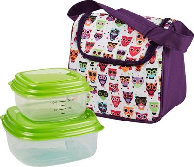 Fit & Fresh Morgan Insulated Kids Lunch Bag Kit with Reusable Containers Hoot - Fit & Fresh Travel Coolers