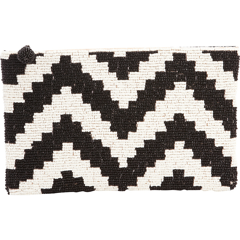 TLC you Chevron Clutch Black White TLC you Fabric Handbags