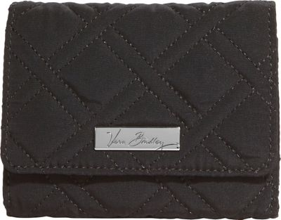 Vera Bradley Small Trifold Wallet - Solids Black - Vera Bradley Women's Wallets