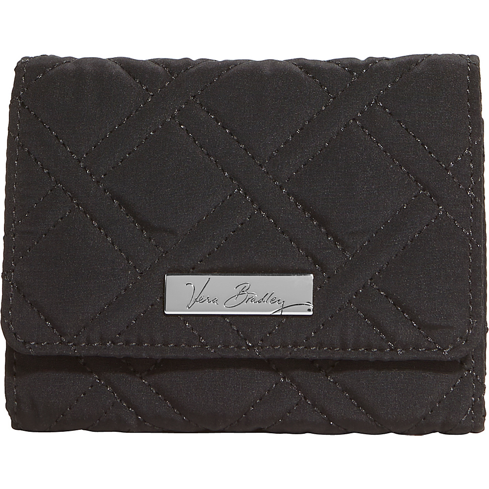 Vera Bradley Small Trifold Wallet - Solids Black - Vera Bradley Womens Wallets - Women's SLG, Women's Wallets