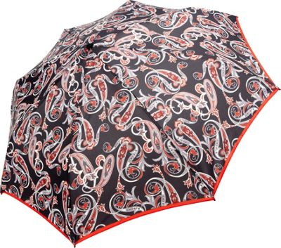 Knirps T2 Duomatic Umbrella Leaves Black - Knirps Umbrellas and Rain Gear