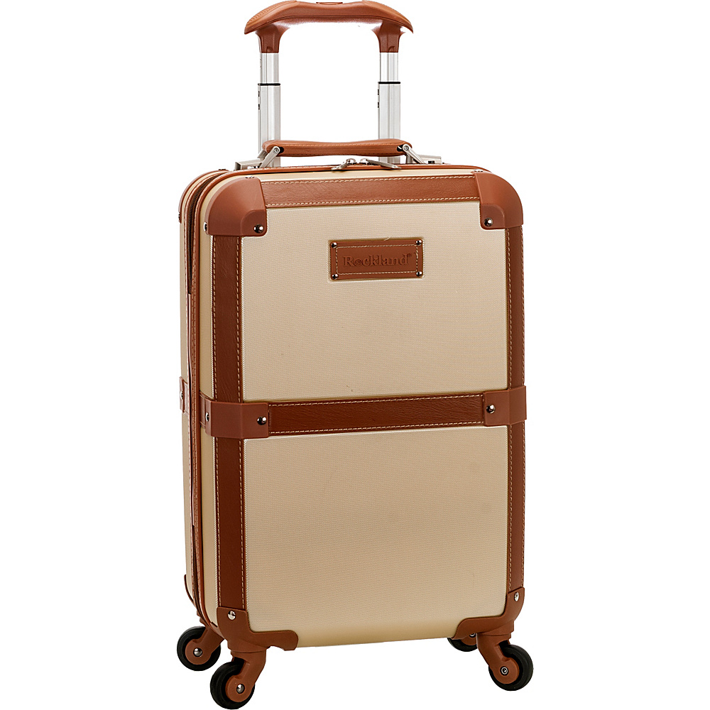 Rockland Luggage Stage Coach 20 Rolling Trunk Champagne Rockland Luggage Hardside Carry On