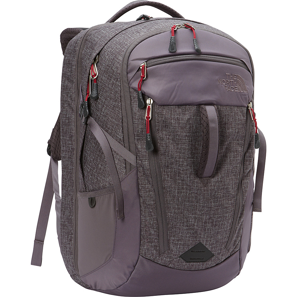 The North Face Womens Surge Laptop Backpack - 15 Rabbit Grey Heather/Cerise Pink - The North Face Business & Laptop Backpacks - Backpacks, Business & Laptop Backpacks