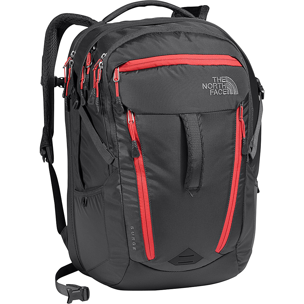 The North Face Womens Surge Laptop Backpack - 15 Graphite Grey/Cayenne Red - The North Face Business & Laptop Backpacks - Backpacks, Business & Laptop Backpacks