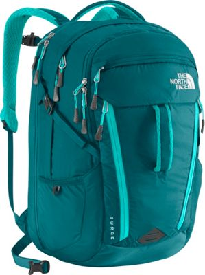 The North Face Women's Surge Laptop Backpack - 15 inch Blue Coral/Bluebird - The North Face Business & Laptop Backpacks