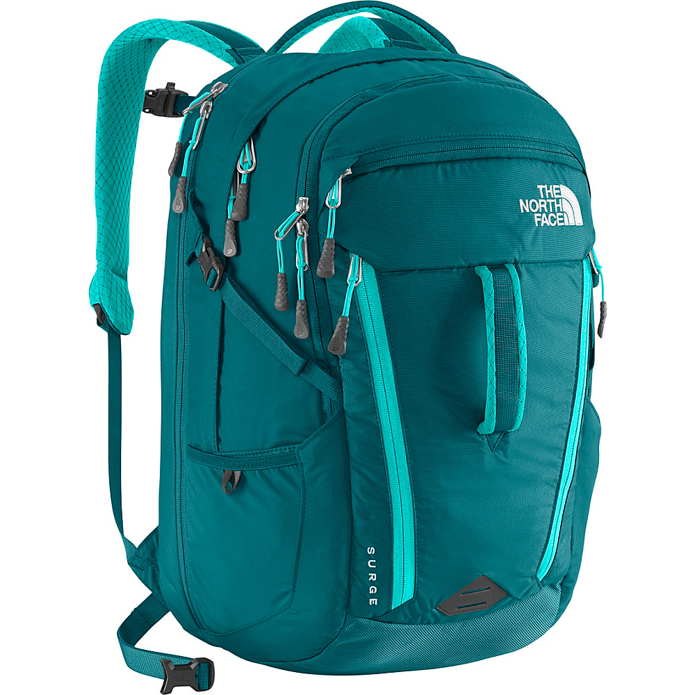 The North Face Women s Surge Laptop Backpack Blue Coral Bluebird The North Face Business Laptop Backpacks