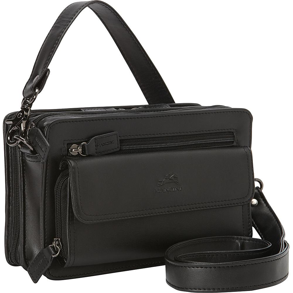 Mancini Leather Goods Compact Unisex Bag Black Mancini Leather Goods Other Men s Bags