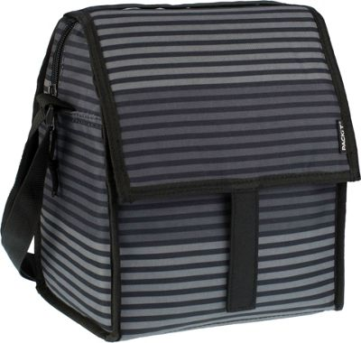 PACKIT Deluxe Lunch Bag Grey Stripe - PACKIT Travel Coolers