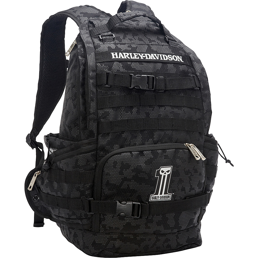 Harley Davidson by Athalon Stellar Backpack Black Harley Davidson by Athalon Everyday Backpacks