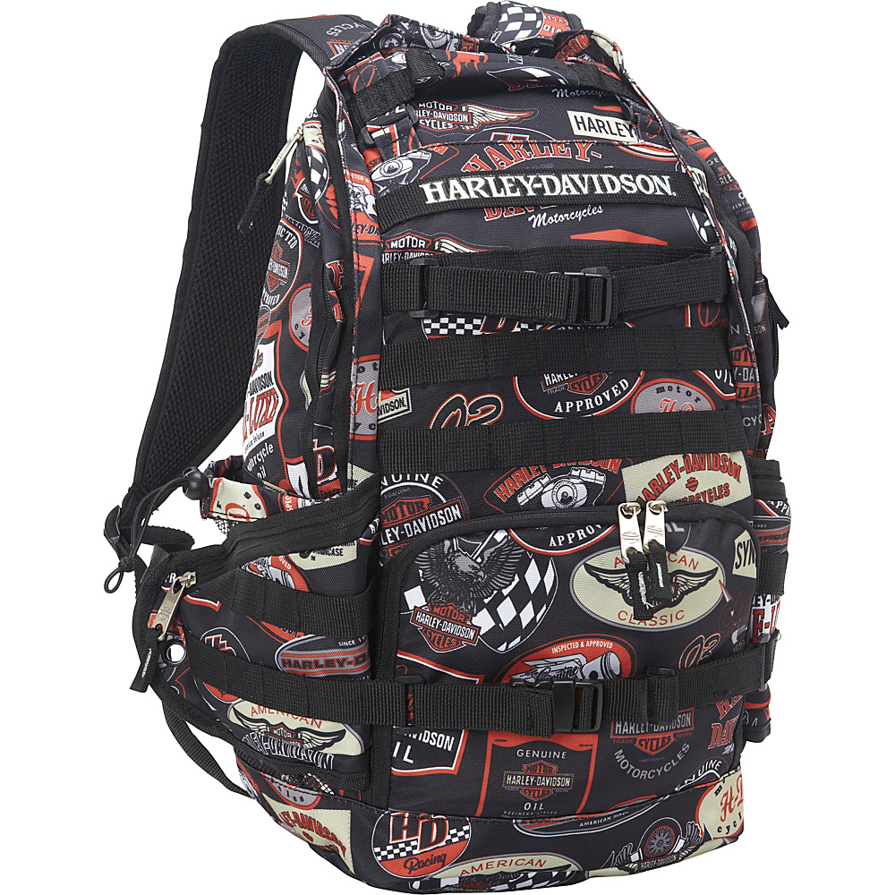 Harley Davidson by Athalon Stellar Backpack Vintage Harley Davidson by Athalon Everyday Backpacks