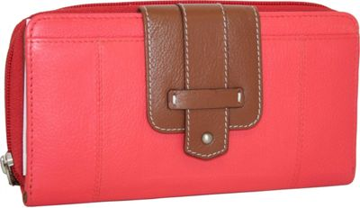 Nino Bossi My New Really Big Wallet Coral - Nino Bossi Designer Handbags