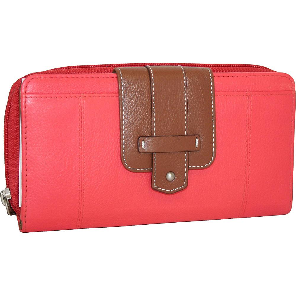 Nino Bossi My New Really Big Wallet Coral Nino Bossi Women s Wallets