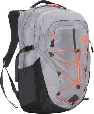 The North Face Women's Borealis Laptop Backpack - 15 inch Dapple Grey Heather/Tropical Coral - The North Face Business & Laptop Backpacks