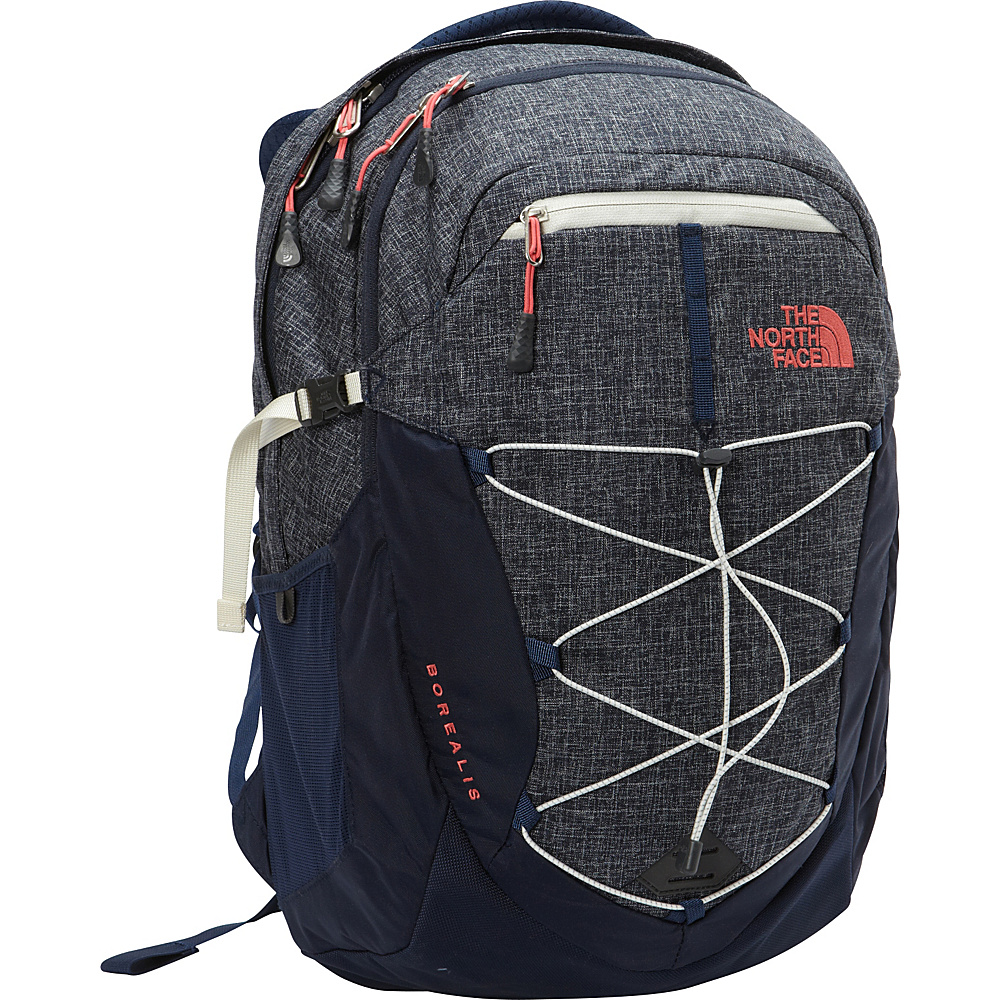 The North Face Women s Borealis Laptop Backpack Cosmic Blue Heather Calypso Coral The North Face Business Laptop Backpacks