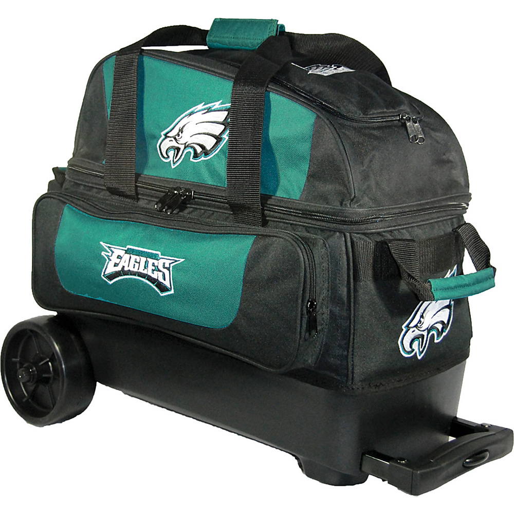 KR Strikeforce Bowling NFL Double Roller Bowling Bag Philadelphia Eagles KR Strikeforce Bowling Bowling Bags