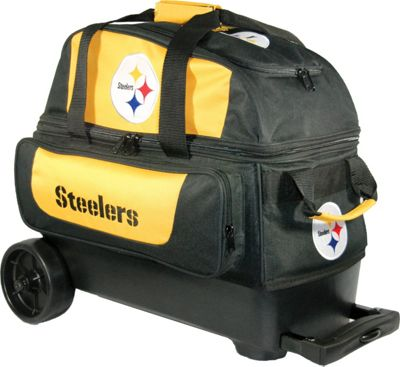 KR Strikeforce Bowling NFL Double Roller Bowling Bag Pittsburgh Steelers - KR Strikeforce Bowling Bowling Bags