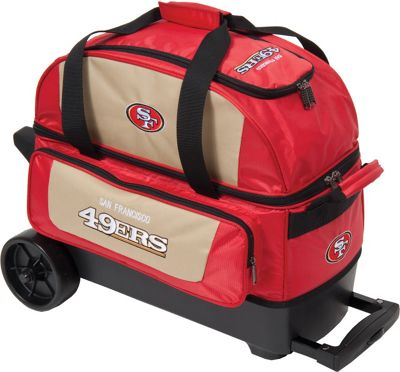 KR Strikeforce Bowling NFL Double Roller Bowling Bag San Francisco 49ers - KR Strikeforce Bowling Bowling Bags