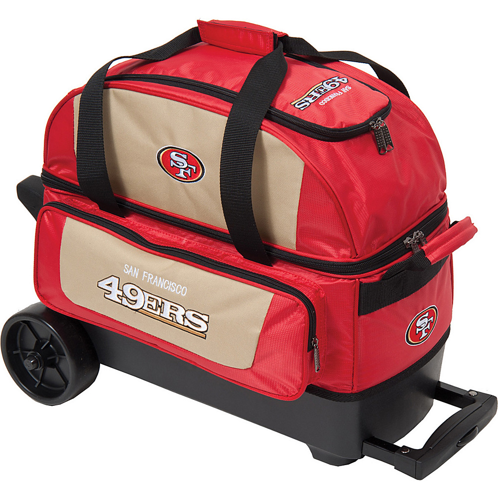 KR Strikeforce Bowling NFL Double Roller Bowling Bag San Francisco 49ers - KR Strikeforce Bowling Bowling Bags