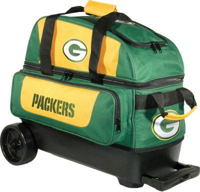 KR Strikeforce Bowling NFL Double Roller Bowling Bag Green Bay Packers - KR Strikeforce Bowling Bowling Bags