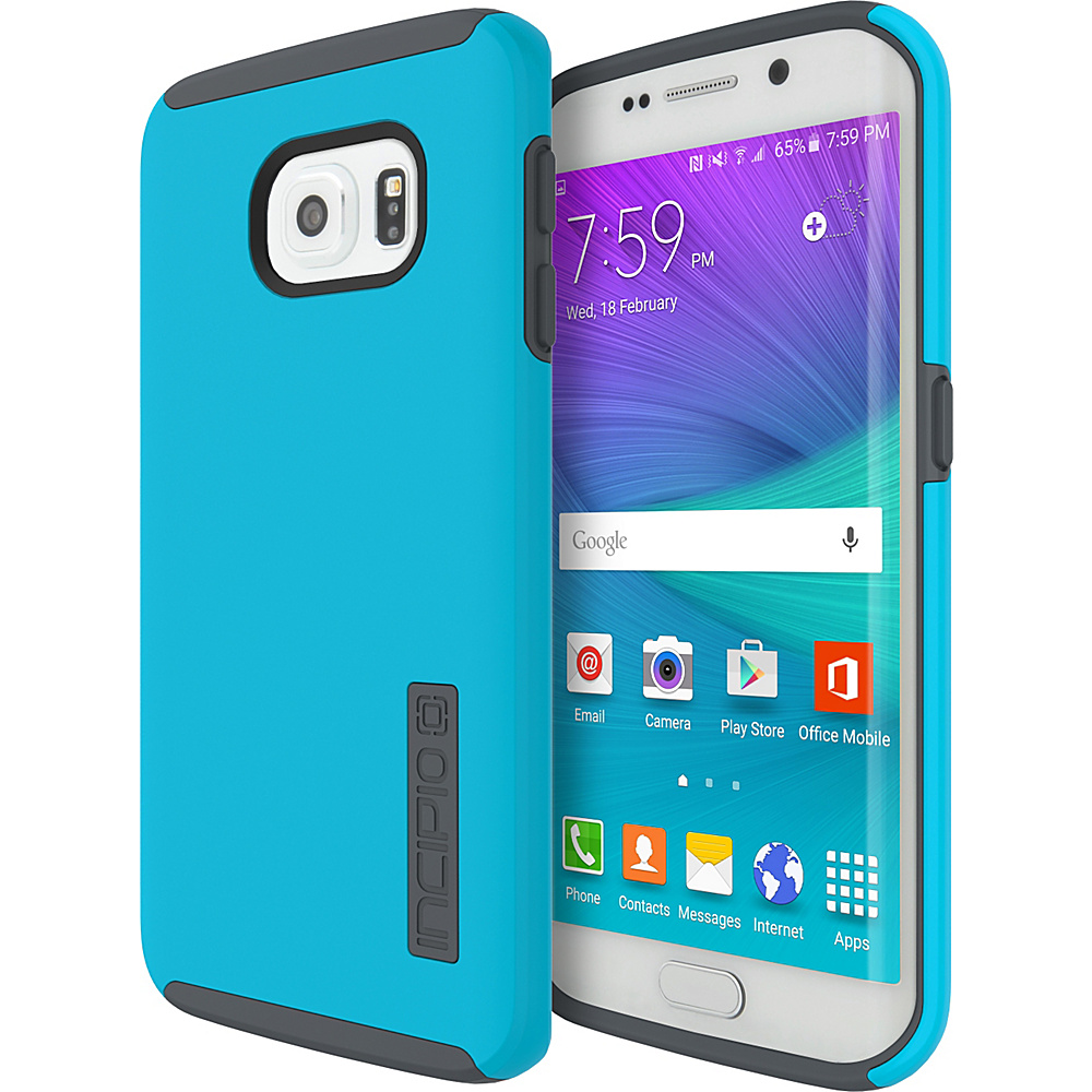 Incipio DualPro for Samsung Galaxy S6 Edge Neon Blue/ Charcoal - Incipio Electronic Cases - Technology, Electronic Cases