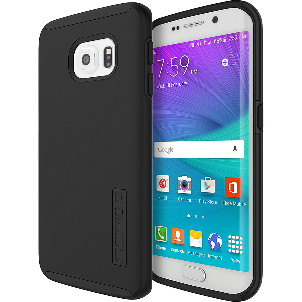 Incipio DualPro for Samsung Galaxy S6 Edge Black/Black - Incipio Electronic Cases - Technology, Electronic Cases