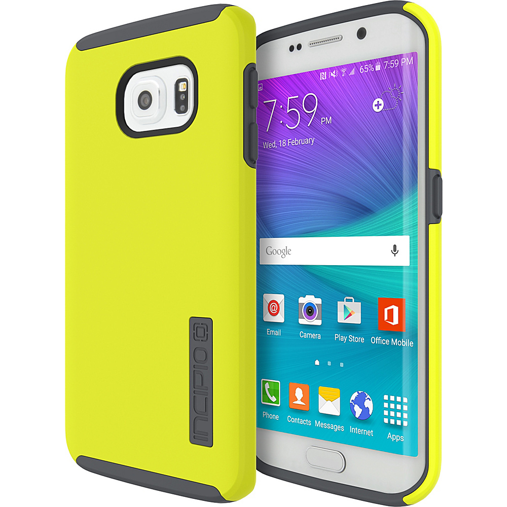 Incipio DualPro for Samsung Galaxy S6 Edge Lime/Charcoal - Incipio Electronic Cases - Technology, Electronic Cases