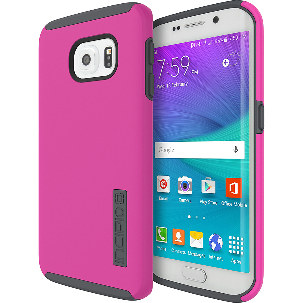 Incipio DualPro for Samsung Galaxy S6 Edge Pink/Charcoal - Incipio Electronic Cases - Technology, Electronic Cases