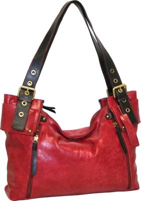Nino Bossi Be Aggressive Tote Red - Nino Bossi Leather Handbags