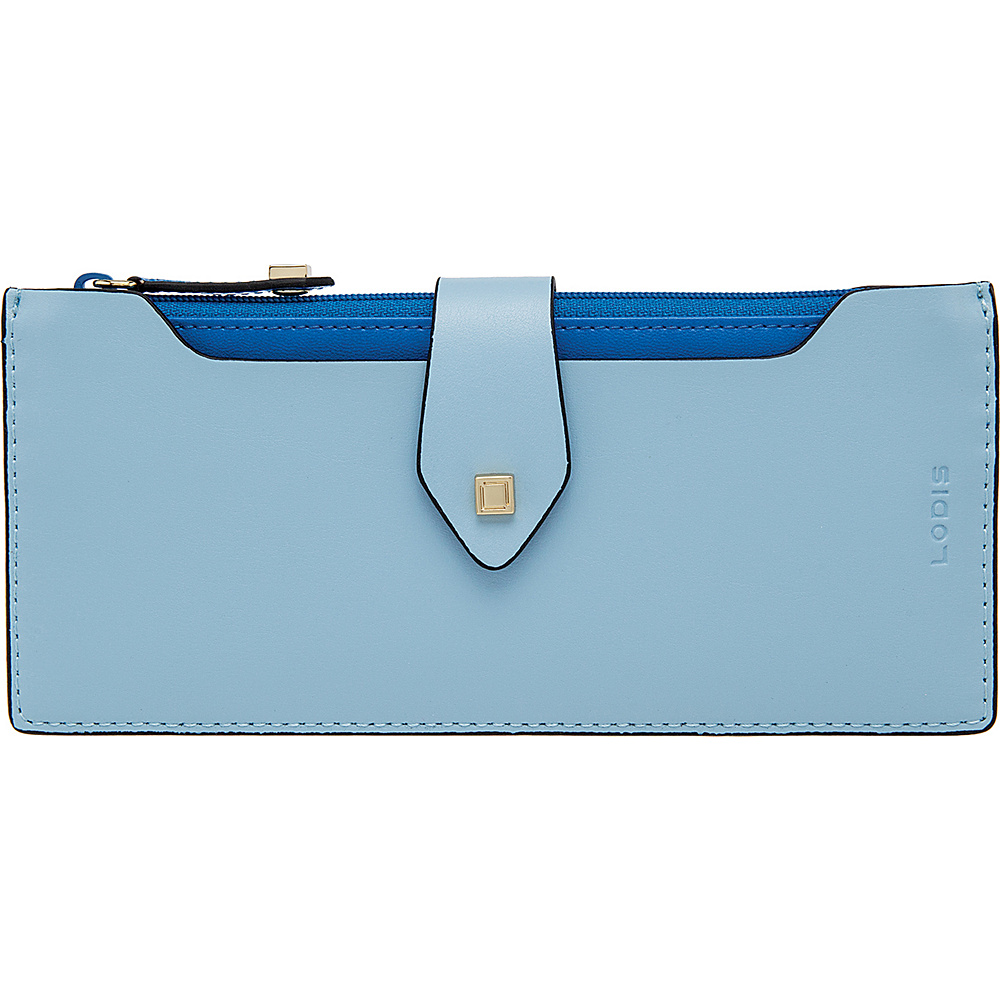 0dfe93b5cd06 ... Wallet Ice/Cobalt UPC 736301361693 product image for Lodis Blair  Unlined Sandy Multi Pouch Ice/ Cobalt - Lodis