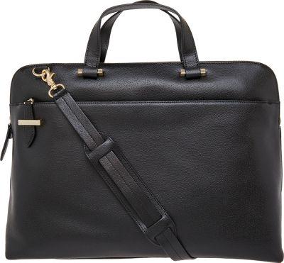 Lodis Stephanie RFID Jamie Slim Briefcase Black - Lodis Non-Wheeled Business Cases