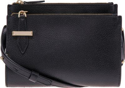 Lodis Stephanie RFID Trisha Double Zipper Crossbody Black - Lodis Leather Handbags