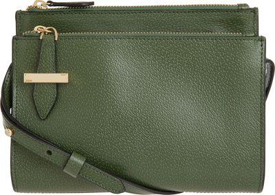 Lodis Stephanie RFID Trisha Double Zipper Crossbody Green - Lodis Leather Handbags