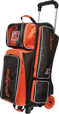 KR Strikeforce Bowling Krush Triple Bowling Ball Roller Bag Black/Orange - KR Strikeforce Bowling Bowling Bags