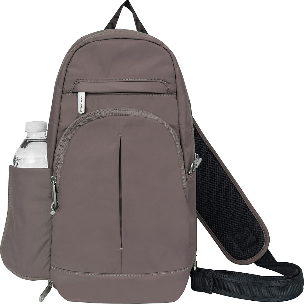 Travelon Anti-Theft Classic Light Sling Mocha/Light Blue - Travelon Slings - Backpacks, Slings