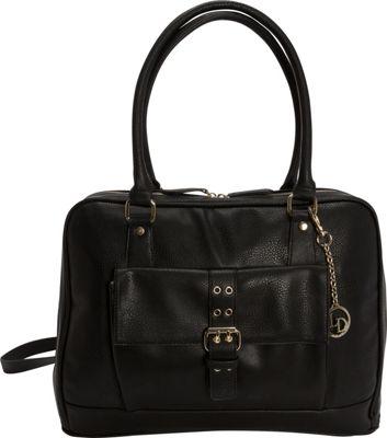 La Diva Large 2 Way Convertible Laptop Tote Black - La Diva Women's Business Bags