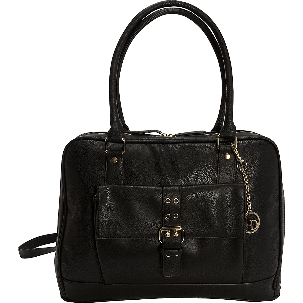 La Diva Large 2 Way Convertible Laptop Tote Black La Diva Women s Business Bags