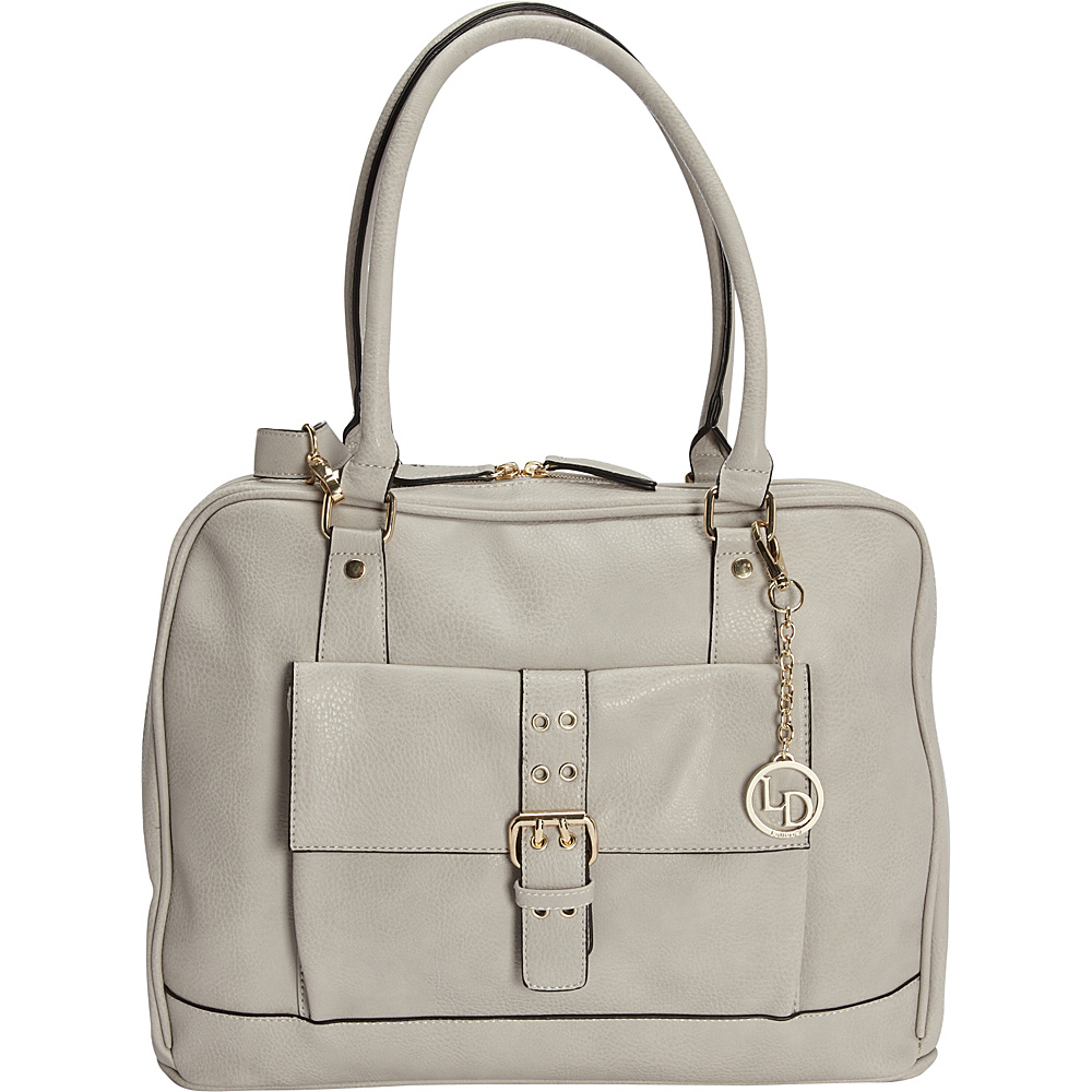La Diva Large 2 Way Convertible Laptop Tote Light Grey La Diva Women s Business Bags