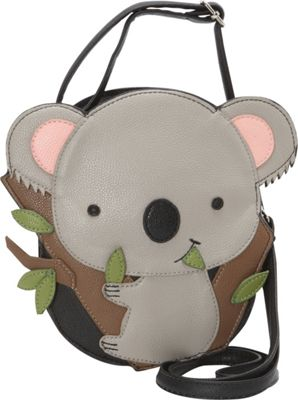Image of Ashley M Cute Baby Koala Bear Crossbody Bag Black - Ashley M Manmade Handbags