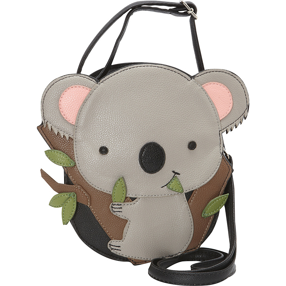 Ashley M Cute Baby Koala Bear Crossbody Bag Black - Ashley M Manmade Handbags