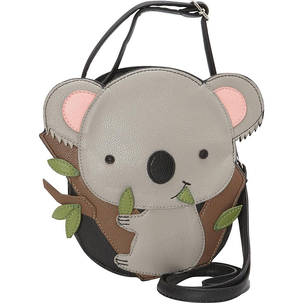 Ashley M Cute Baby Koala Bear Crossbody Bag Black - Ashley M Manmade Handbags