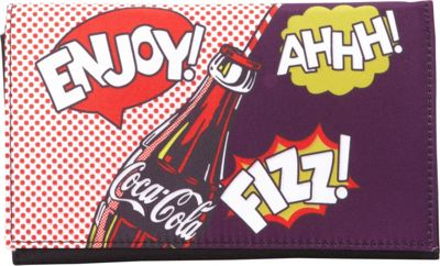 Ashley M Officially Licensed Coca-Cola Pop Art Tri-Fold Wallet Black - Ashley M Women's Wallets