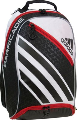 adidas Barricade IV Raquet Backpack White/Black/Scarlet - adidas Other Sports Bags