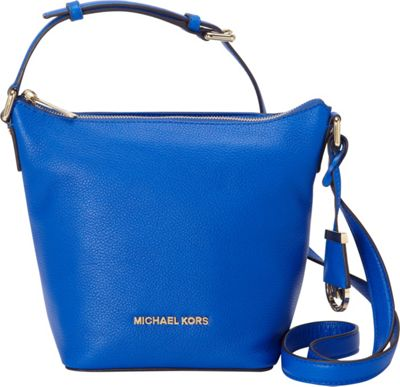 MICHAEL Michael Kors Bedford Small Messenger Crossbody Electric Blue - MICHAEL Michael Kors Designer Handbags