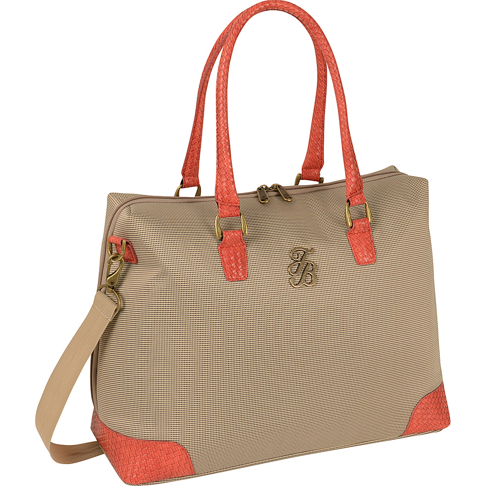 Tommy Bahama Belle of the Beach 18.5 Boarding Bag Champagne Coral Tommy Bahama Luggage Totes and Satchels