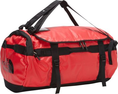 The North Face Base Camp Duffel Large TNF Red/TNF Black [all-over emboss] - The North Face Outdoor Duffels