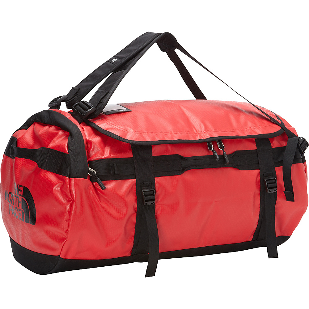 The North Face Base Camp Duffel Large TNF Red TNF Black [all over emboss] The North Face Outdoor Duffels