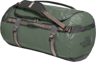 The North Face Base Camp Duffel Large Thyme/Falcon Brown - The North Face Outdoor Duffels