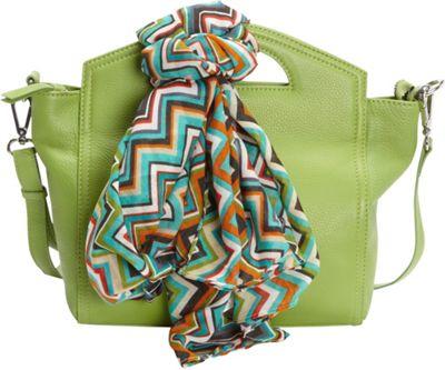 Hadaki Astrid Satchel Piquat Green - Hadaki Leather Handbags
